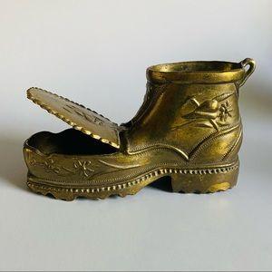 Mid-Century Italian Brass Boot Ashtray